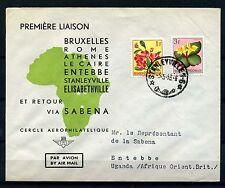 PREMIÈRE LIAISON STANLEYVILLE 5.5.53 ENTEBBE UGANDA 6.MY.53      CF859