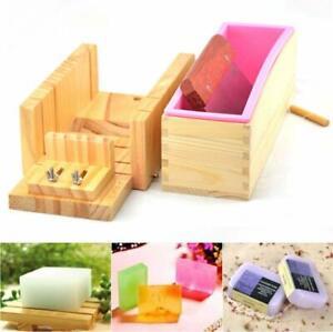 DIY Seifenform Handgefertigt Holz Seifenschneider Seife Herstellung Holzkiste DE