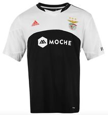 Adidas Benfica Lisbonne Portugal Away Maillot 2015 2016 Noir Blanc taille XL