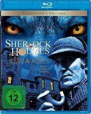 SHERLOCK HOLMES Der hund von Baskerville + IM ZEICHEN DER 4 VIER BLU-RAY Box Neu