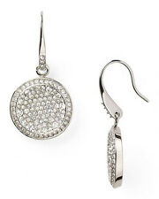 Women's Fashion Silver Color Style Pave Drop Full Crystal Hook Earrings