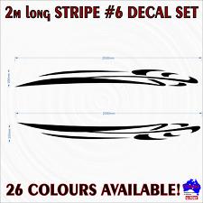 2m Stripe #6 decal sticker set graphics.Car,ute,4wd,4x4,AWD race drift striping!