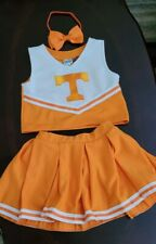 Girls Tennesse Cheerleading Outfit With Hair Bow Size 6-8 Halloween