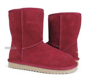 Koolaburra by UGG Koola Short Syrah Suede Fur Boots Womens Size 9 ~NEW~