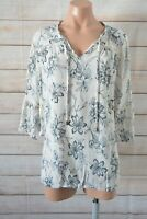 Table 8 Popover Tunic Shirt Blouse Size 14 Pink Beige Black White