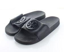 06-59 $148 Women's Sz 6 M Tory Burch Lina Leather Pool Slide Sandal In Black