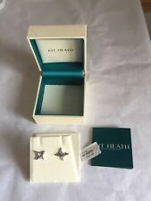 Kit Heath Silver Star 925 Sterling Silver Stud Earrings, Silver New in box