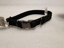 "Reddy Webbed Dog Collar, Small, BLACK Metal Clip ( 9""- 14"" ) ( 22.9 - 35.5 cm )"