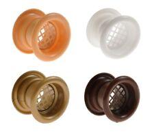 4 X Puerta Del Baño Redondo rejillas de ventilación de aire 40mm Cubierta de muebles de círculo dos caras
