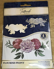 Tattered Lace Flourish Peony - Flowers Metal Cutting Die  - Card Making - 701307