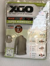 Xgo Mens Phase 3 Performance Super Midweight Long Sleeves Crew Shirt Sz L New