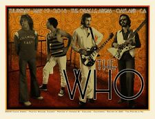 The Who Oracle Arena Oakland Print Chuck Sperry Signed