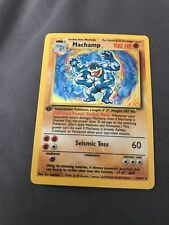 Machamp 1999 Pokemon Base Set Unlimited #8 PSA 9 MINT 1st Edition Holo 8/102