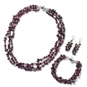 "Shop LC Earrings Bead Bracelet Size 8"" Beach Necklace 20"" Summer Fashion Jewelry"