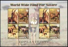 TANZANIA 2006 FAUNA WWF: Topi Antelope. MINI-SHEET, MNH
