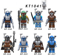 8 Pcs Minifigures The Mandalorian - Star Wars Darth Maul Leia Rey Lego MOC New