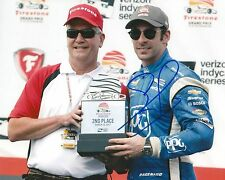 Simon Pagenaud signed 8x10 Trophy photo Irl Indy with Coa C