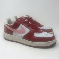 Nike Air Force 1 V-Day Valentines Day Red/Pink Heart Women's Size 10 307109-164