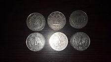 Regno d'Italia  V.E.III monete da 1 e 2 lire lotto di 12 vari anni