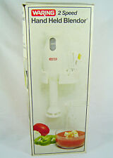 Waring White Wall Mount 2-Speed Hand Held Immersion Stick Blender #Hhb72-1 New