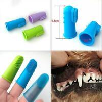 Soft Pet Finger Toothbrush Dog Puppy Pet Brush Bad Breath Tartar Teeth 1pc 2019