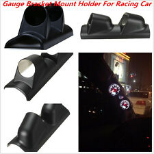 Racing Car 2'' 52mm Black A-Pillar Meter Gauge Bracket Mount Holder Protector