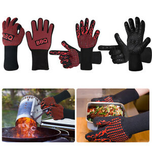 Hot 932℉ Heat Resistant Gloves Oven Barbecue BBQ Grilling Gloves Cooking Kitchen