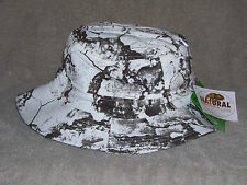 Natural Gear - White Camo Boonie Hat with Face Netting