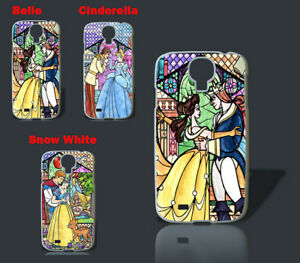 Disney stained glass belle snow white princess phone case for Samsung
