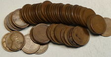 Circulated Roll, 1921-S Lincoln Cents, Fine to Very Fine, SCARCE ROLL  0401-43