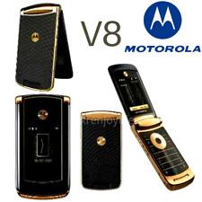 Original Motorola Razr2 V8 - 2GB Flip GSM Unlocked CellPhone Mobile Phone Gold