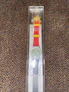 NEVER WORN Vintage 1985 Swatch SHEHERAZADE Watch w/case LM 105 - works!