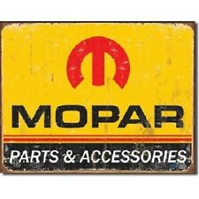 Mopar Parts Service Dodge Retro Logo Garage Shop Wall Decor Metal Sign