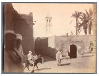 Tunisie, Ville tunisienne  Vintage albumen print Tirage albuminé  8,5x11,5