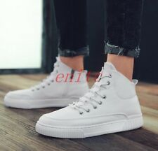 Stylish Mens Side Zipper Sneakers High Top Casual Shoes Board athletic shoes S80
