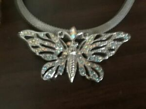 Kirks Folly Butterfly Pin Pendant Necklace Silvertone