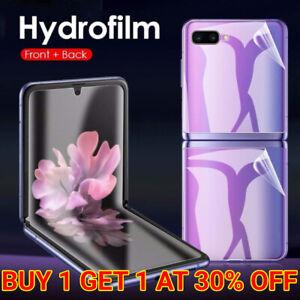 For Samsung Galaxy Z Flip 3 5G Hydrogel Screen Protector Film HD Clear 4 in 1
