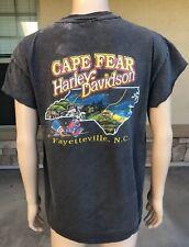 Vintage 90s 1994 Harley Davidson Cape Fear Nc Single Stitch T Shirt Usa Made 3D