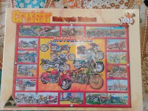 Cruisin' Motorcycle Madness Jigsaw Puzzle 1000 piece complete 2009 Brand New