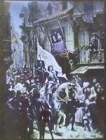 Jeanne D'Arc Raising Siege of Orleans, Magic Lantern Glass Slide, Scheffer