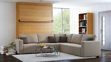 Schranbett Wandbett mit Sofa Ecke Leggio Linea STD-STD 160 x 200 cm Kirsche