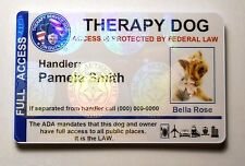 Holographic Therapy Dog ID Badge Custom Service Dog Card ADA working dog pet 26