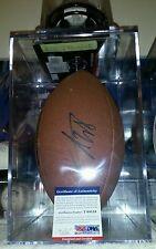 Adrian peterson autographed football psa/dna coa