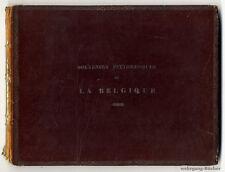 Souvenirs pittoresques de la Belgique. 35 acier clés panneaux & 1 plan de 1838