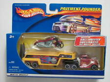HOT WHEELS  PAVEMENT POUNDERS WITH MATCHING MOTORCYCLE   LIMITED EDITION