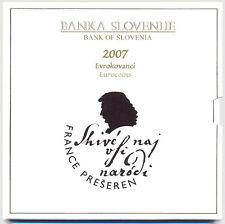 Slovenia 2007 - Official (BU) Euro Coin France Preseren