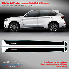 BMW M Performance Side Stripes Graphic decals Set for F15(X5)/F16(X6) series