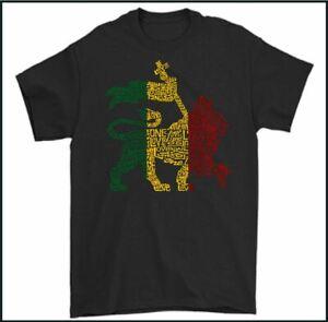 REGGAE T-SHIRT, Bob Marley and the Wailers Music Jamaica Jamaican Lion Mens Tee