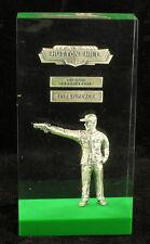 Vintage 1963 Hutton Hill NJ First Place Pistol Gun Championship Lucite Trophy