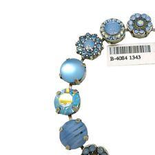 Mariana Handmade Swarovski Silver Bracelet 4084 1343 Crystal Meridian Blue Opal